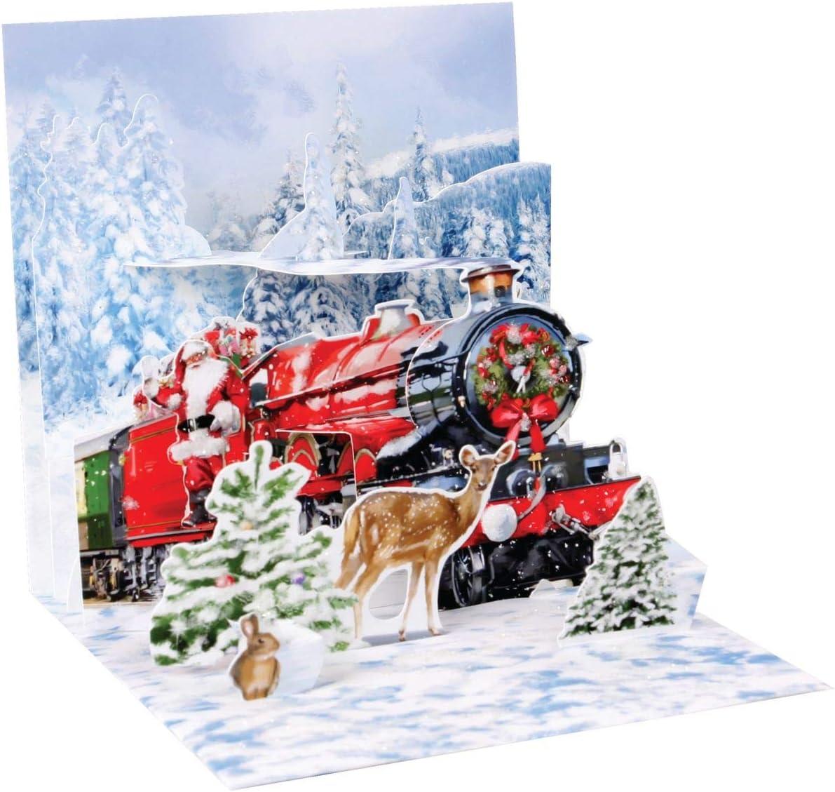 Papá Noel Express tren de Navidad Pop Up 3d tesoro tarjeta de ...