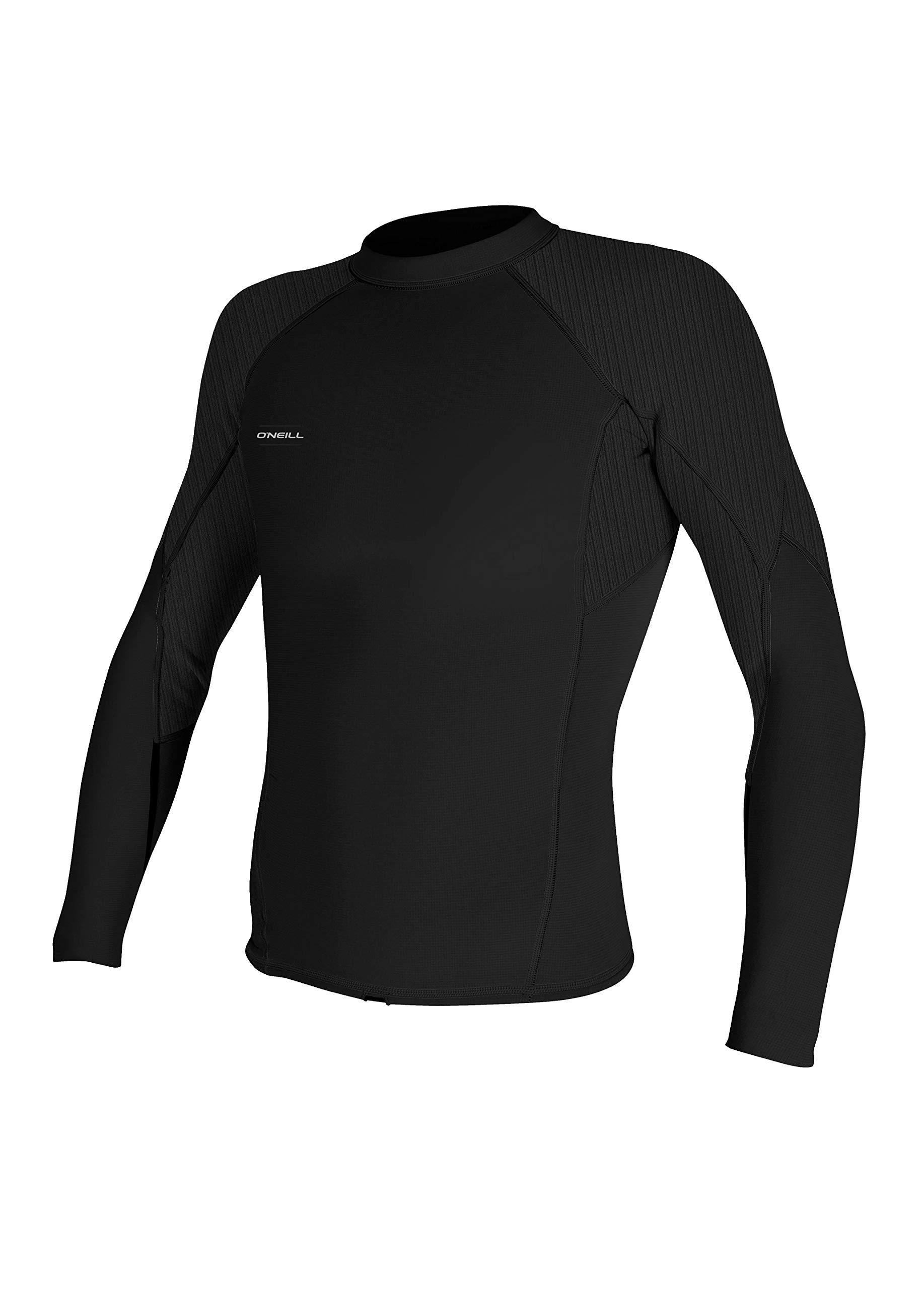 O'Neill Men's Hyperfreak 1.5mm Long Sleeve Top, Black/Black, X-Large by O'Neill Wetsuits