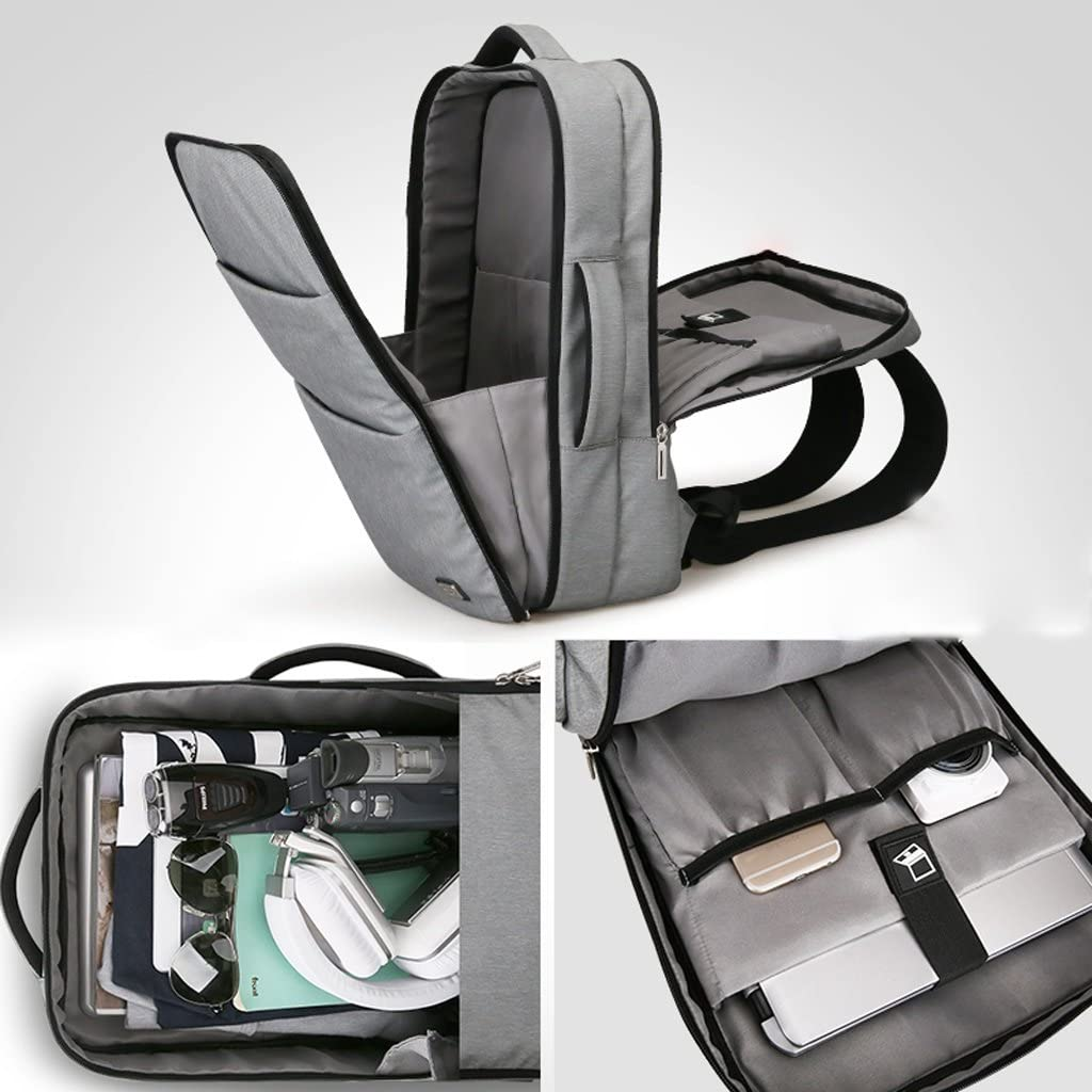 QARYYQ Commerce Leisure Backpack Multi-Purpose Computer Backpack Travel Backpack Business Briefcase Color : Gray, Size : XL301245