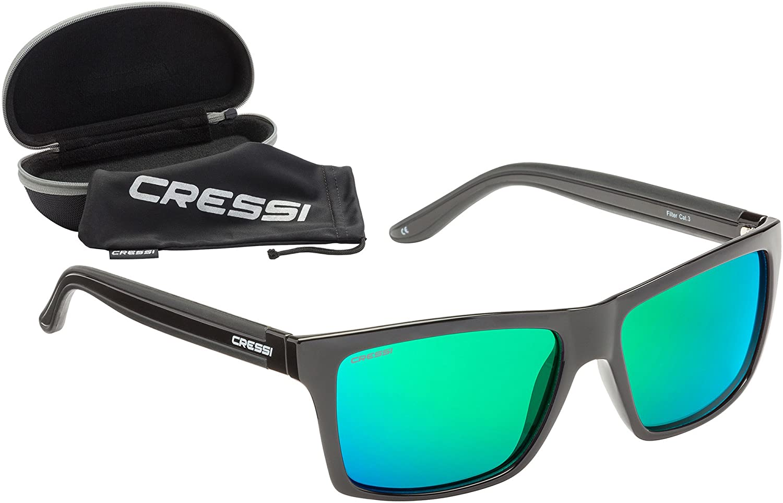 Cressi Rio Gafas de Sol Unisex Adulto Negro Verde Talla Única