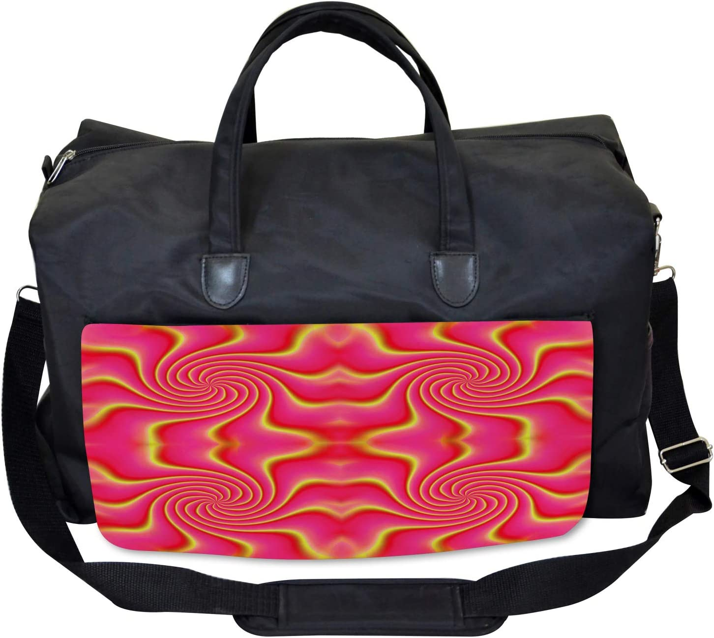 Large Weekender Carry-on Ambesonne Pink Gym Bag Surreal Patterns