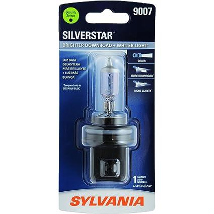 SYLVANIA - 9007 SilverStar - High Performance Halogen Headlight Bulb, High Beam, Low Beam