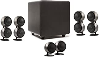 product image for Orb Audio 5.1 Home Theater Speaker System (Mod2X and subONE) in Hand Polished Steel