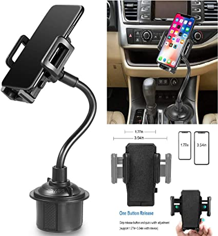 Black MARRRCH Cup Holder Phone Mount,Universal Adjustable Cup Holder Cradle Car Mount Compatible with iPhone Xs//XS MAX//XR//X//8//8Plus//7,GalaxyS9//S10//S10e,Google Nexus,Huawei and More