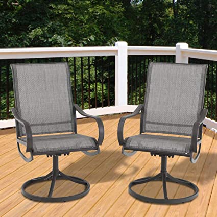 Magnificent Phi Villa Patio Swivel Rocker Chair Outdoor Kitchen Garden Dinning Chair Patio Furniture Bistro Set 2 Pcs Grey Gmtry Best Dining Table And Chair Ideas Images Gmtryco
