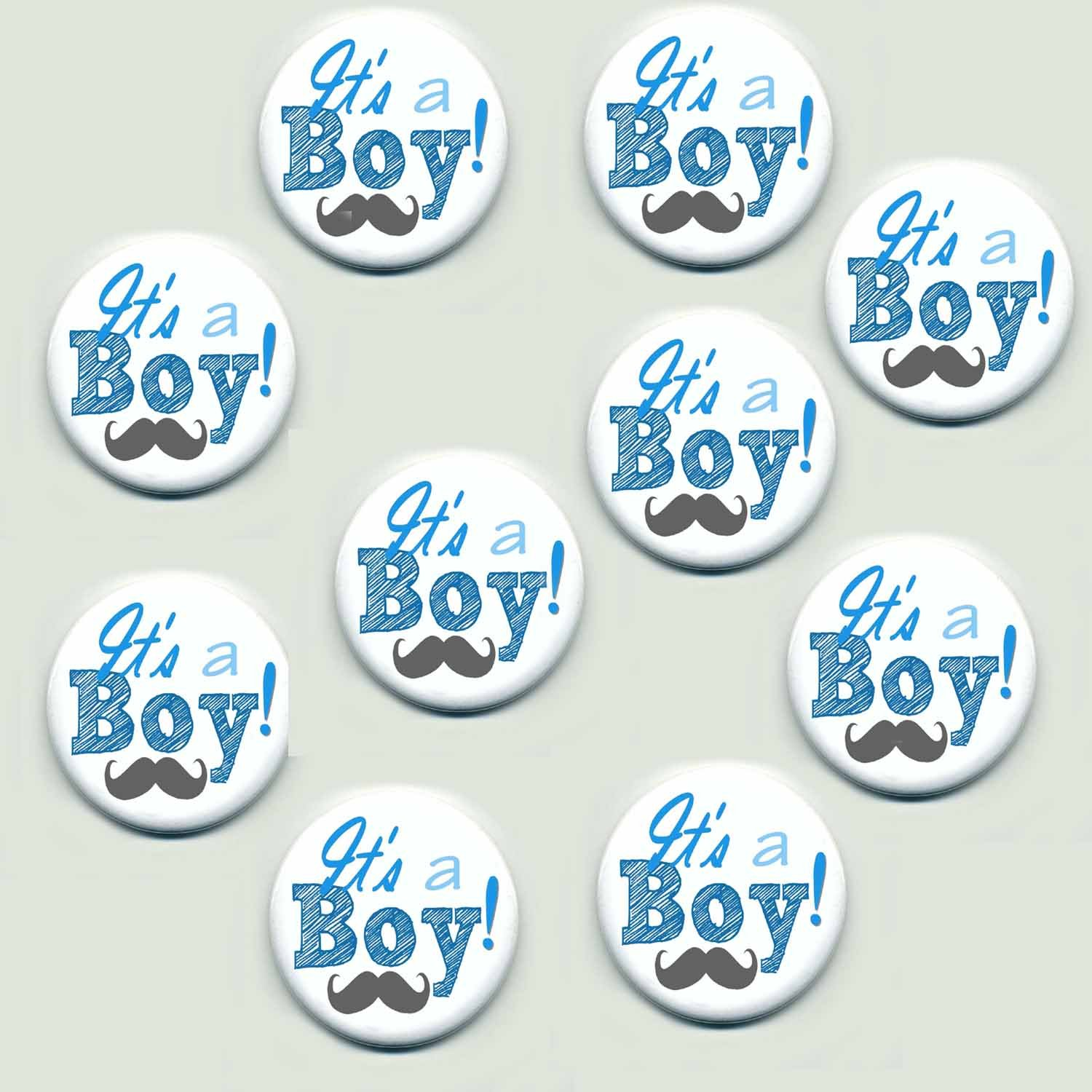 Amazon.com: Its a Boy Buttons 1.5 Inch Set of 10: Kitchen & Dining