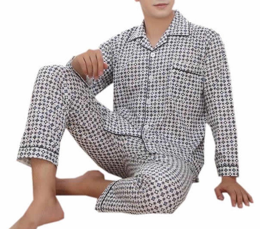 KXP Mens Palid Button Top And Pant Loungewear Set XXL jewelry blue