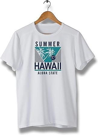 Men's Summer Hawaii T-Shirt for Men, Hawaiian Aloha Casual Short Sleeve Tee