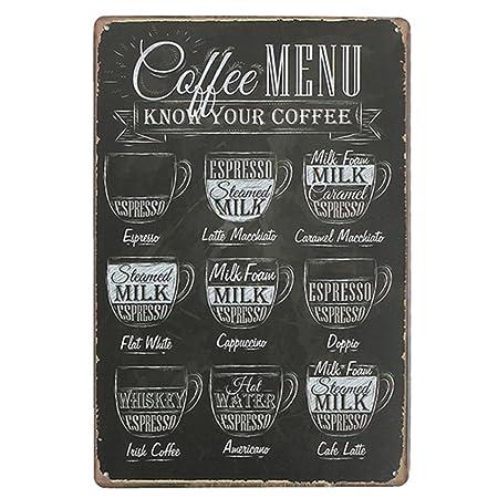 livecity coffee bar menu vintage sign pub shop home wall decor retro
