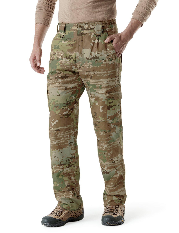 CQR Men's Tactical Pants Lightweight EDC Assault Cargo TLP104 Tesla Gears