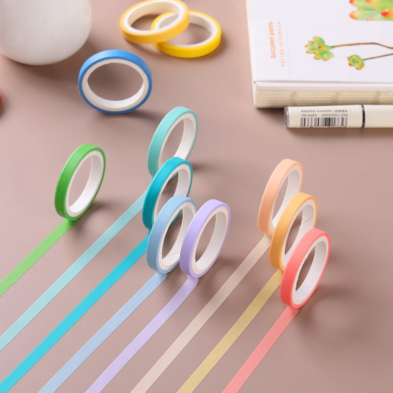 Juego de 60 rollos de cinta adhesiva con purpurina para manualidades decoraci/ón de planeadores /álbumes de recortes accesorios para la escuela//fiesta