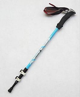 RDJM 1pc Stick de randonnée, Ultra-léger 3 Sections Out-Lock Fibre de Carbone Off-Road Cane Anti Choc Randonnée/Walking/Trekking Trail Poles