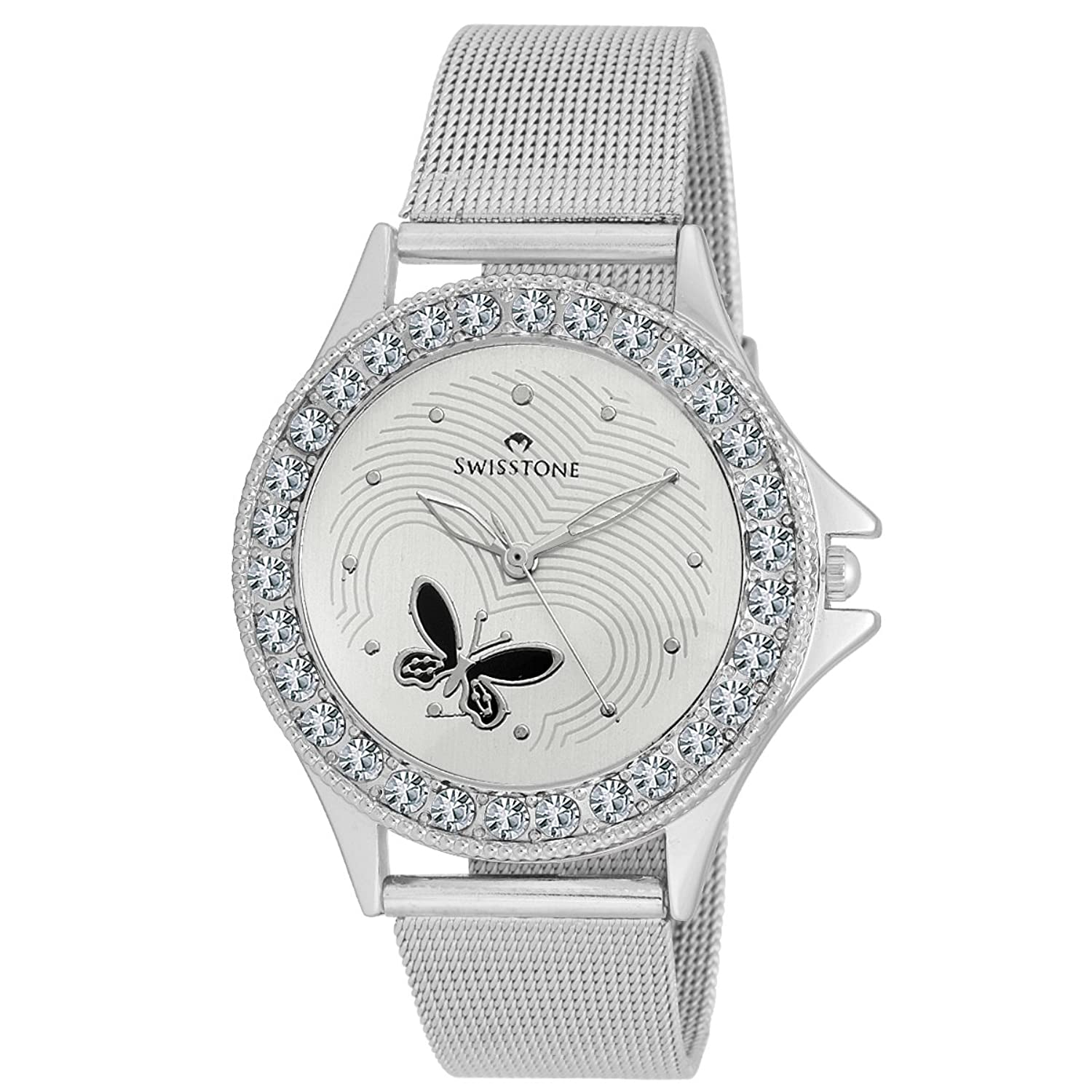 Buy Swisstone Analogue White Dial Women Watch-VOGLR501-WHT-CH ...