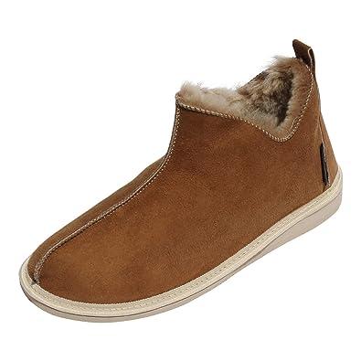 7e30bb439cc735 Lammfell Hausschuhe Mokassin Cinderella braun Schuhgröße EUR 36  Amazon.de   Schuhe   Handtaschen