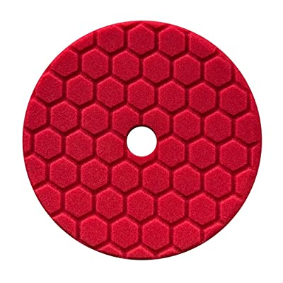 Chemical Guys BUFX117HEX5 Hex-Logic Quantum Ultra Light Finishing Pad, Red (5.5 Inch Pad made for 5 Inch backing plates): Automotive