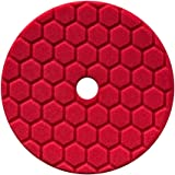 Chemical Guys BUFX117HEX6 Hex-Logic Quantum Ultra Light Finishing Pad, Red (6.5 Inch Pad made for 6 Inch backing plates)