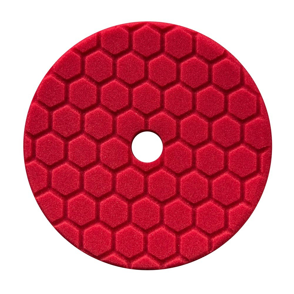 Chemical Guys  Hex Logic Quantum 140mm 5.5' Red Ultra Light Finishing Pad ~ Car BUFX117HEX5