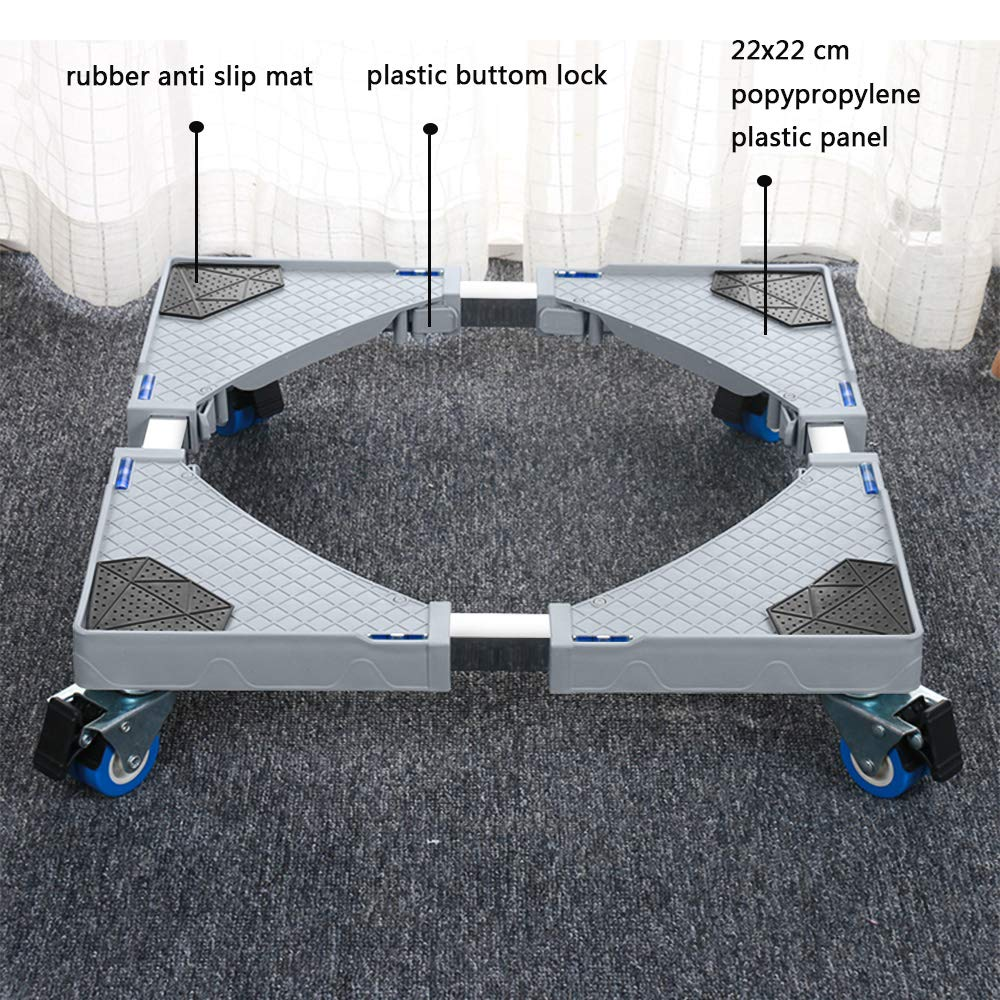B07HD3GR9L JY Hong Cheng Washing Machine Stand Multi-functional Front Load Movable Base Dolly Top Freezer Refrigerator Base with Wheels 51sxdF6ddaL