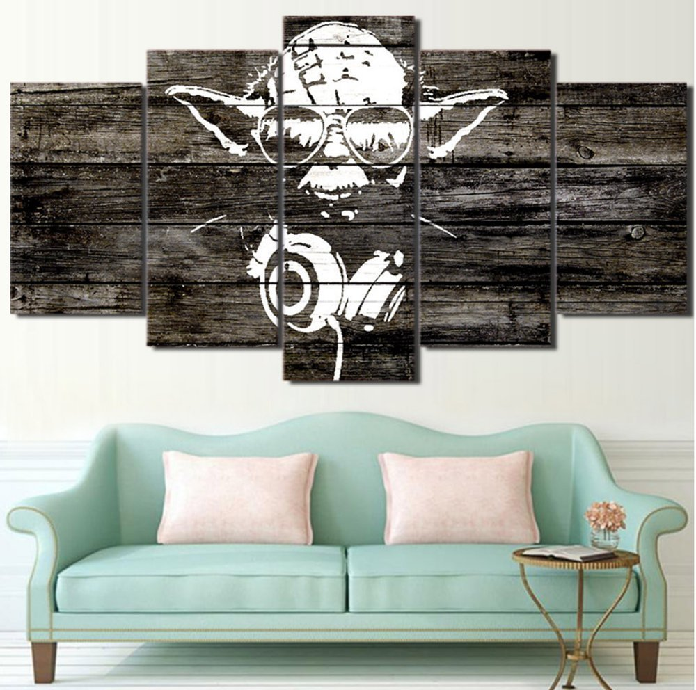 Amazon.de: 5PCS Framed Canvas Yoda The Vedic RockStar Star Wars - 5 ...