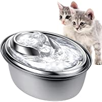 Cat Water Fountain Stainless Steel, ZeePet 100oz/3L Pet Drinking Fountain for Cat Inside, Automatic Dog Water Dispenser…