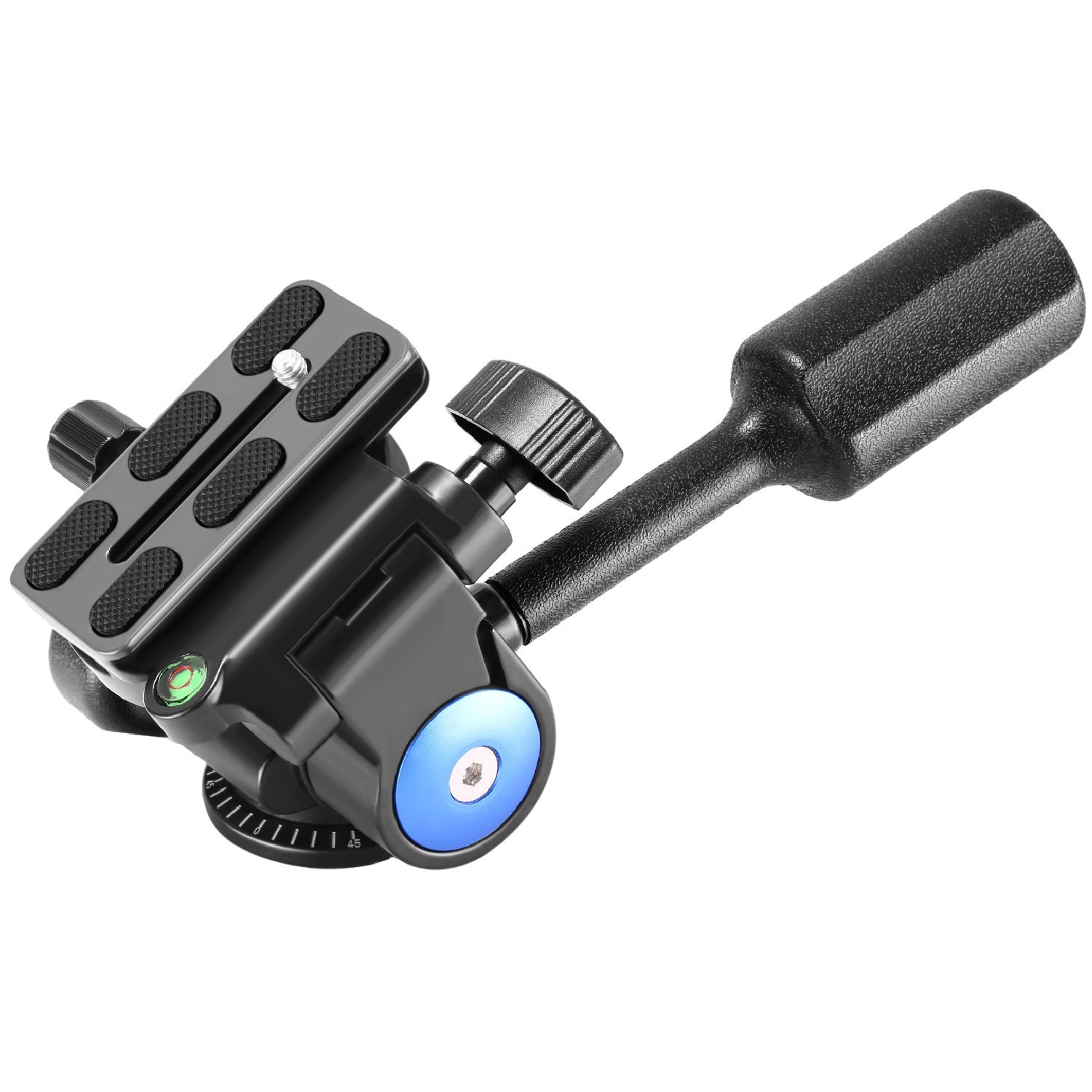 Neewer Camera Tripod Handle Ball Head with 1/4'' QR Plate,3-Dimensional 360 Degree Rotation for Tripod,Slider,DSLR Camera,Camcorder,Load up to 22lbs
