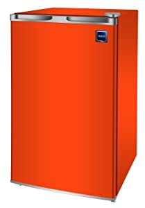 RCA RFR321-FR320/8 IGLOO Mini Refrigerator, 3.2 Cu Ft Fridge, Orange