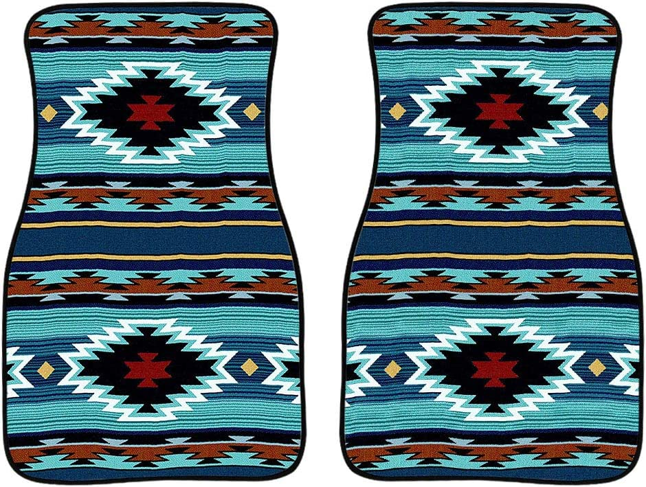 FKELYI Wolf Dreamcacther Pattern All Weather Floor Mats for Car Interior Decorative Accessories Rubber Carpets African Tribal Design Ethnic Auto Rugs