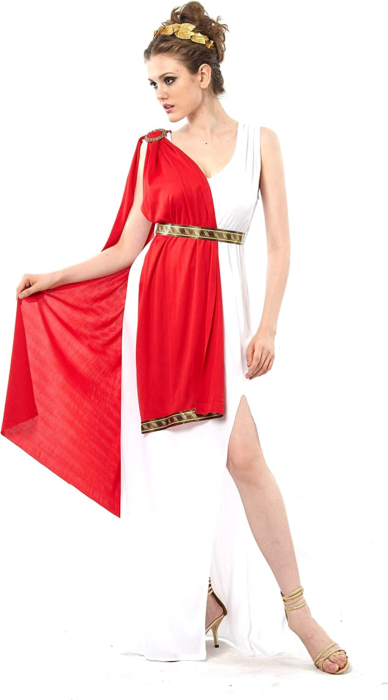 Vegaoo - Disfraz de Diosa Romana Toga roja para Mujer - XS: Amazon ...