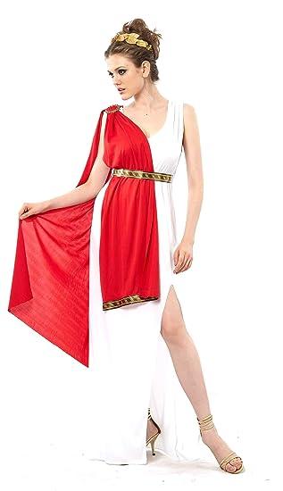 Vegaoo - Disfraz de Diosa Romana Toga roja para Mujer - XS ...