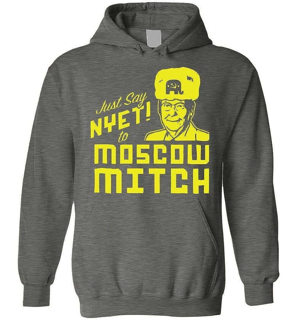 TSHIRTAMAZING Just Say NYET to Moscow Mitch Blend Hoodie Dark Heather