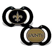 Baby Fanatic 2 Piece Pacifier Set, New Orleans Saints