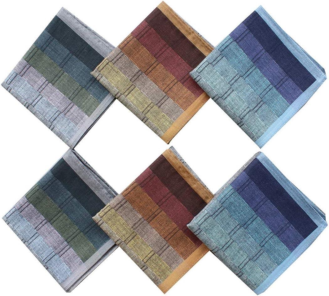 6 pieces 12 pieces 40cm x 40cm classic pattern 100/% cotton handkerchiefs MZL