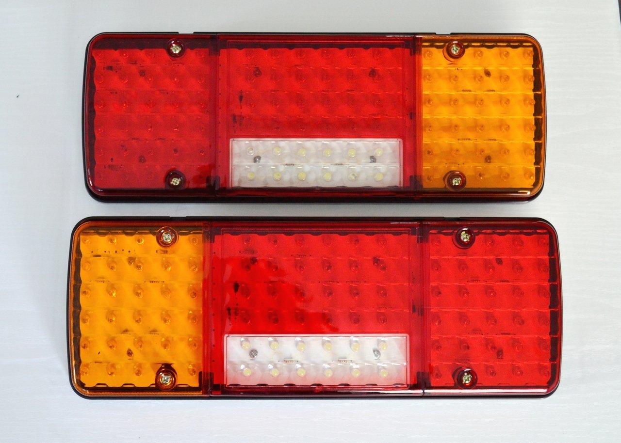 Luci posteriori a LED, 12 V, 5 funzioni, design ultra sottile, per camion, rimorchio, ribaltabile, autocarro, camper ecc., 2 pezzi DACA087