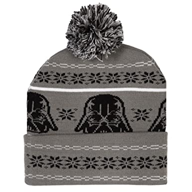 Amazon.com: Star Wars Darth Vader Fair Isle Pom Beanie: Clothing