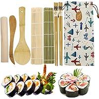 EQLEF Kit Sushi Bambu, 2 X Home Sushi