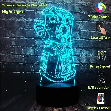 LED Light Thanos Infinity Gauntlet Marvel Legends Gloves Avengers Gifts for Kids