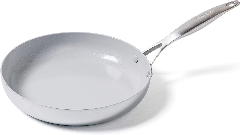 GreenPan Venice Pro Ceramic Frying Pan, 11'', Light Grey