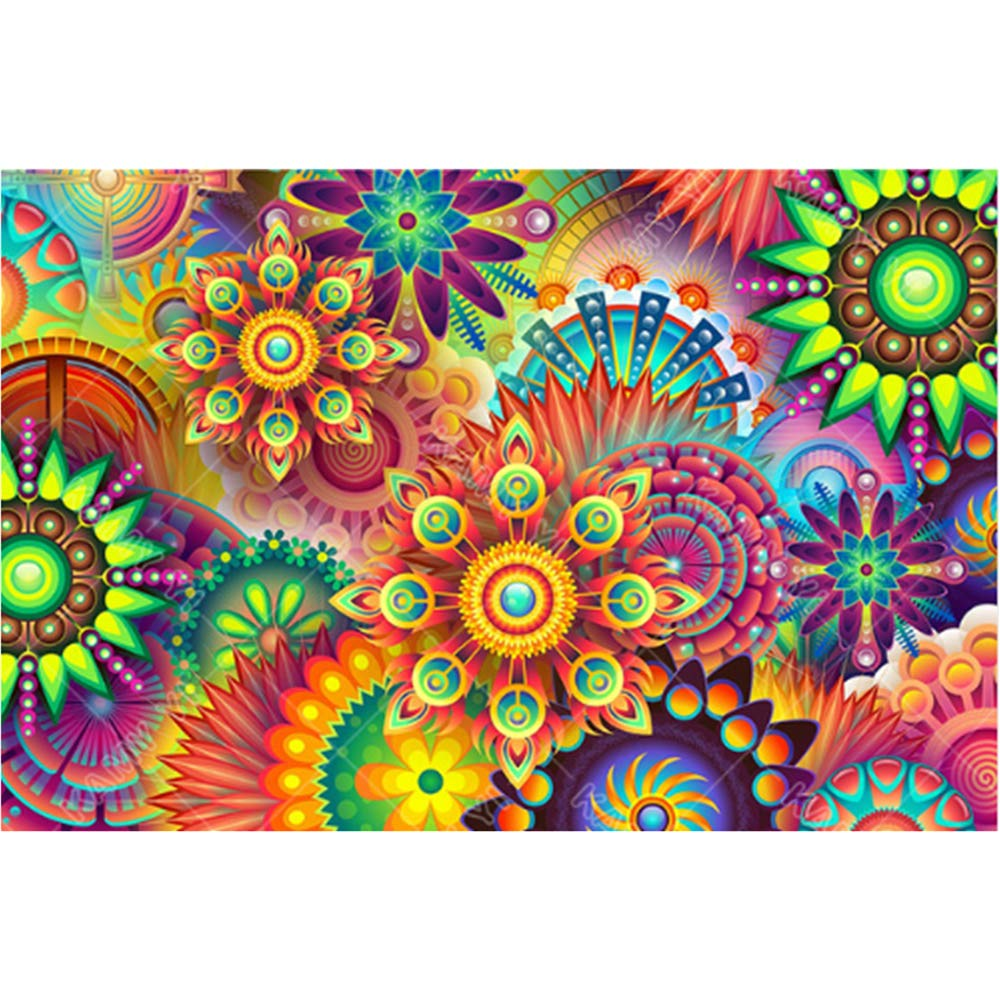 DIY 5D Diamond Painting by Number Kits feilin Abstract Flower Painting Cross Stitch Full Drill Crystal Rhinestone Embroidery Pictures Arts Craft for Home Wall Decor Gift 45x30cm