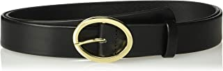 product image for Circa Leathergoods Plus Size Circa Women's Italian Leather Belt with Oval Buckle