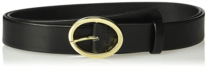 Circa Leathergoods Plus Size Circa Womens Italian Leather Belt with Oval Buckle