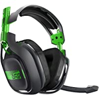 Logitech A50 Headset, color Gris/Verde (+ Base Xbox One) - Platinum Edition