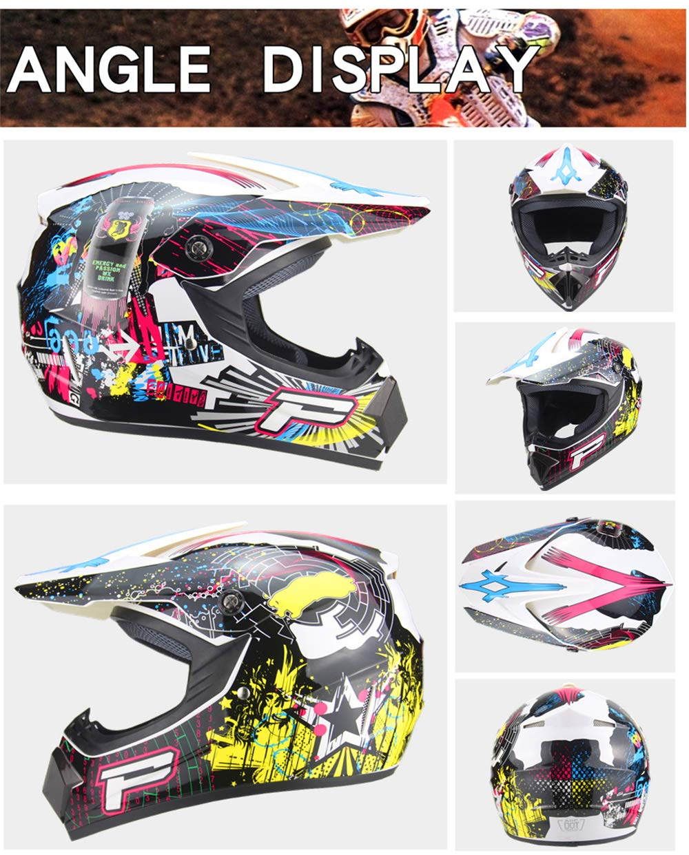 f/ür Erwachsene Jugend Junior Kinder Kinder , Gr/ün S Helm Safe Full Face Classic Fahrrad Mtb Dh Racing Helm Motocross Downhill Fahrradhelm Capacetes Motocross 52~55cm QSWSW Motocross Helm