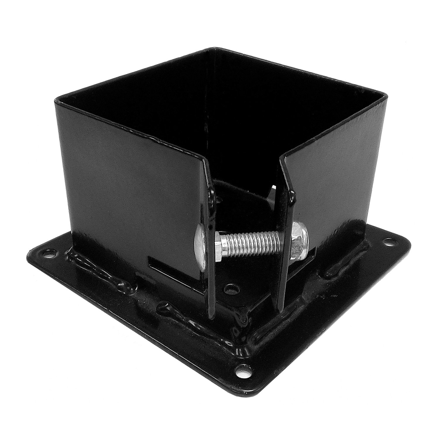 Pylex 13062 Fixbase 44 Post Anchor Bracket, Black