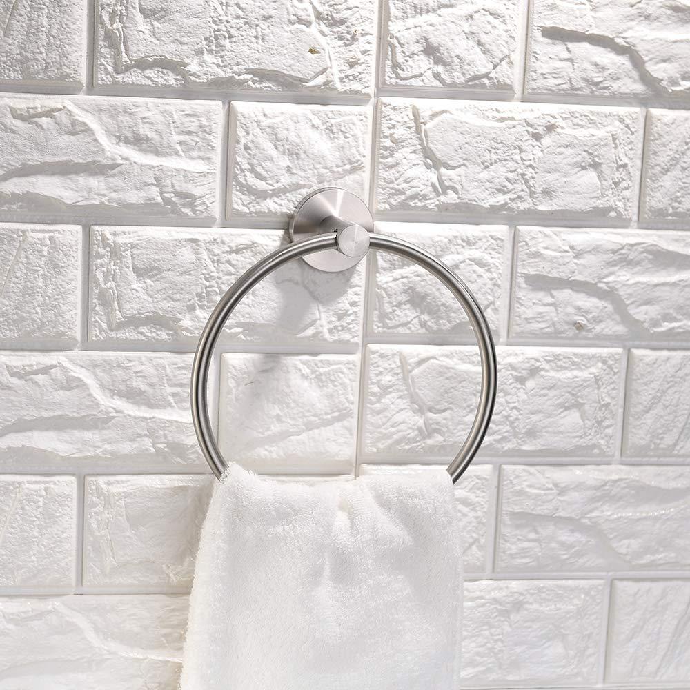 Turs en acier inoxydable de salle de bain Barre porte-serviettes antirouille Style moderne support mural Finition polie, Q2series-p, Argenté Argenté