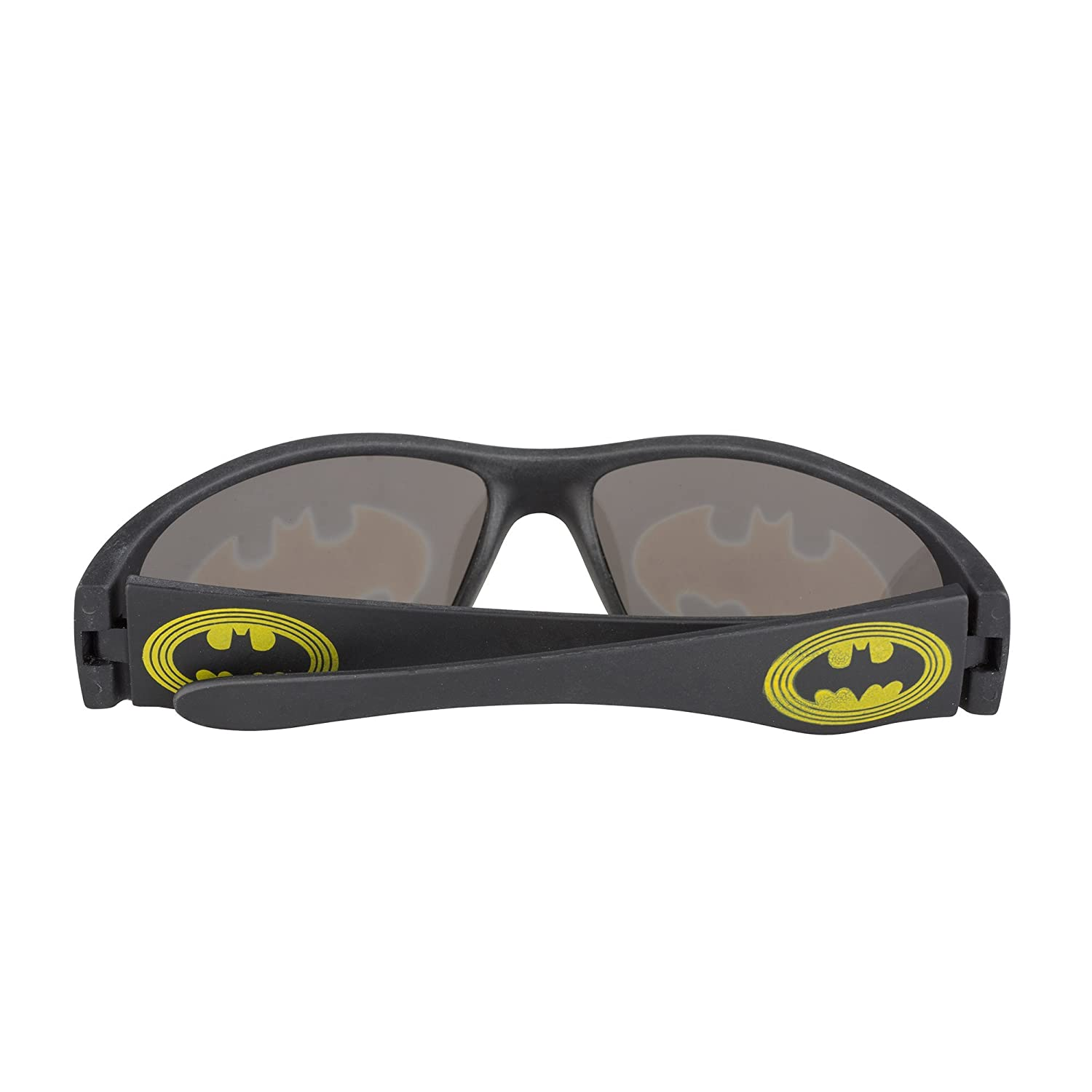 Pan Oceanic LTD Black Plastic Batman Sunglasses for Boys Non-polarized Spiderman Avengers Star Wars BM064-BLKWAY-OS