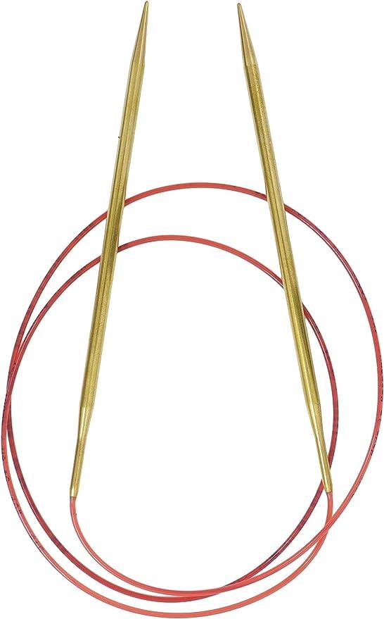 "Addi Brass Tip Circular Knitting Needles 100cm 40/"""