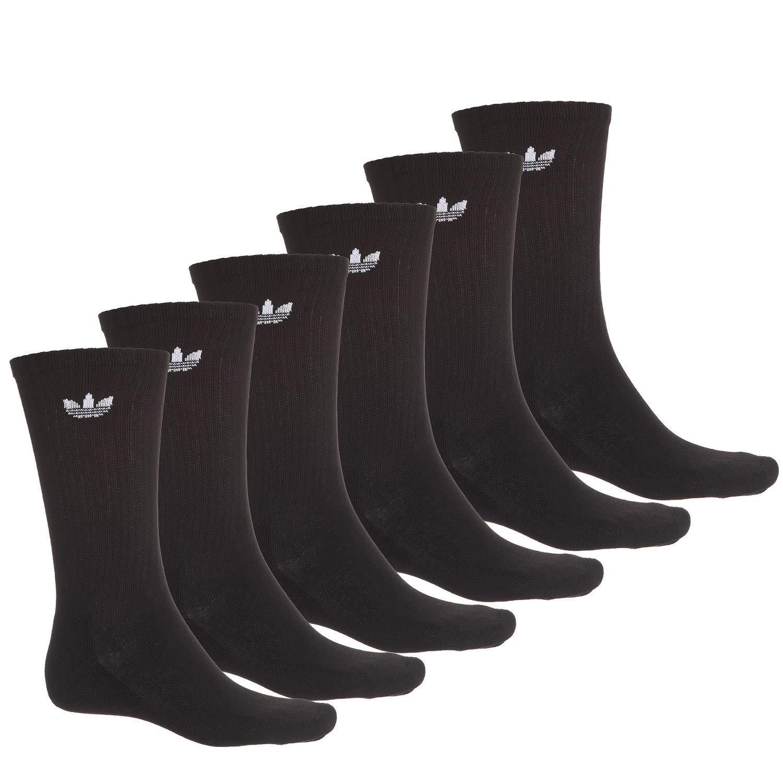 adidas Men's Athletic Crew Socks (6-Pack) (Shoe: 6-12, Originals Black)
