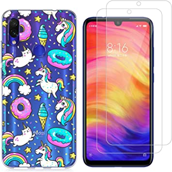 jrester Funda Xiaomi Redmi Note 7,Donut de Unicornio Flexible ...