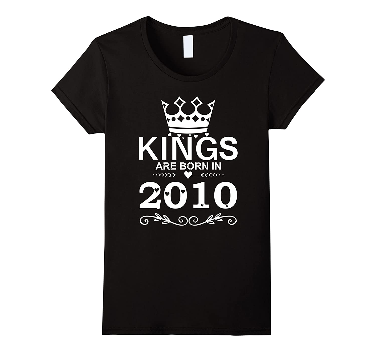 Kings Are Born In 2010 Shirt 7th Birthday Gift Boy Vintage