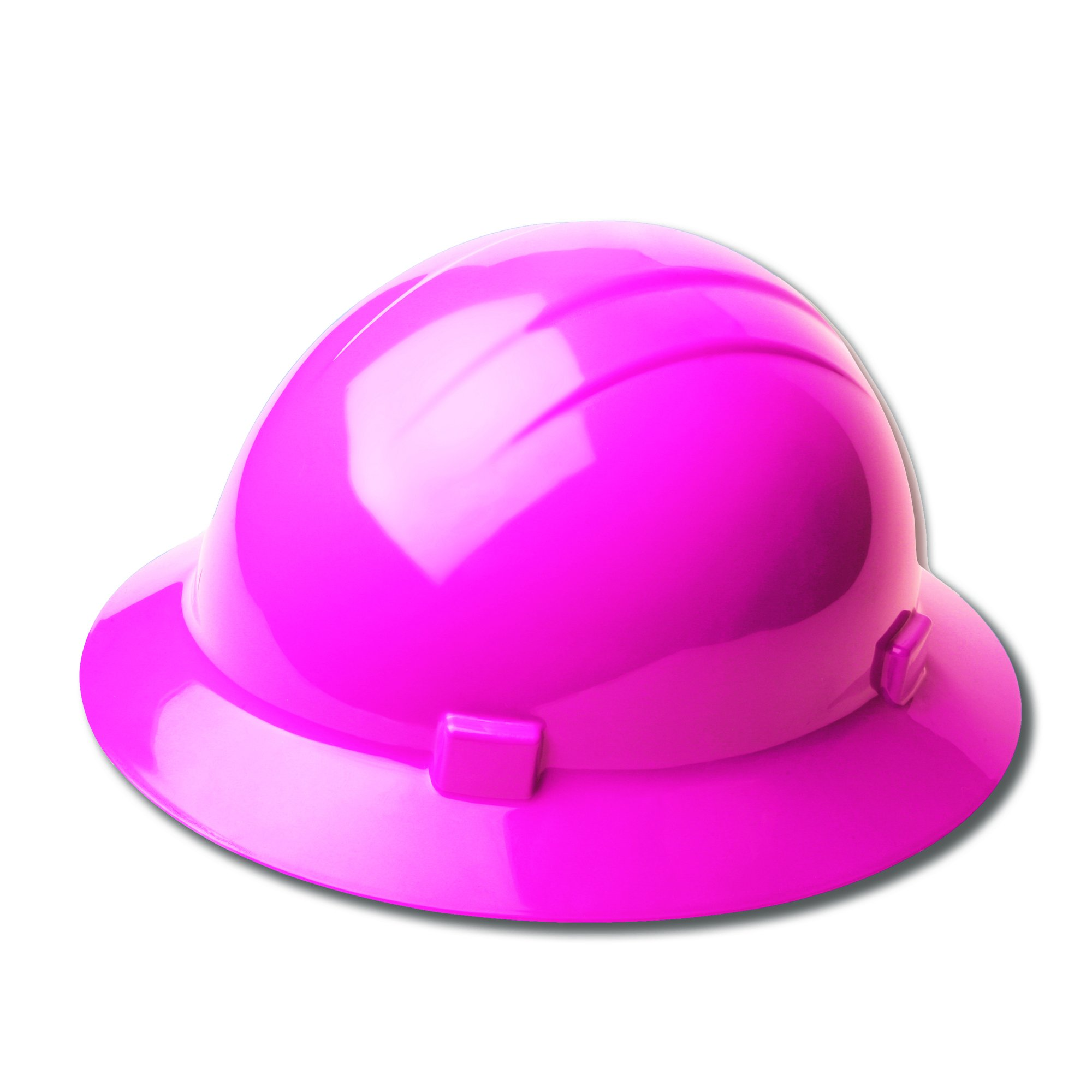 ERB Safety Products 19199 Americana Full Brim Mega Ratchet Hard Hat, Size: 6 1/2-8, Pink